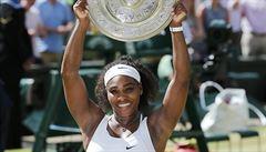 Finále bez ztráty setu. Serena Williamsová vyhrála pošesté v kariéře Wimbledon