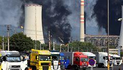 Při výbuchu v Unipetrolu se zatřásly baráky, popisuje starosta blízkého Jiřetína