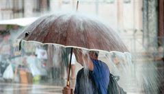 Padaly stromy, voda tekla do sklepů. Na Moravu přijdou deště v neděli