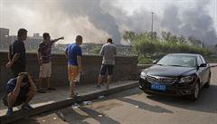 Čína přiznala, že v přístavu Tchien-ťin vybuchoval smrtící kyanid sodný