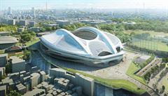 Stadion jako cyklistickou helmu od Zahy Hadid v Japonsku nepostaví