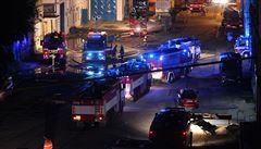 Hasiči uhasili požár ve Vysočanech. Škoda je přes 280 milionů