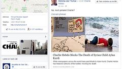 'Dvě dětská menu za cenu jednoho.' Charlie Hebdo si dělá legraci z utonulého chlapce