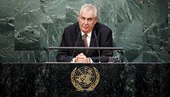 Zeman v OSN: Potřebujeme systematicky likvidovat vůdce teroristických organizací