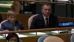 Malý budoucí diktátor? Bělorusko v OSN reprezentoval jedenáctiletý Kolja Lukašenko
