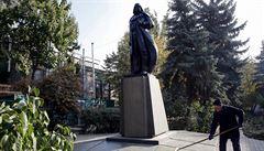 Nová doba. Darth Vader nahradil na Ukrajině sochu Lenina