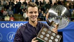 Berdych získal druhý titul v sezoně, ve stockholmském finále porazil Socka