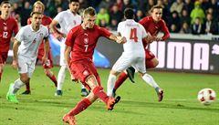 Hladké vítězství. Čeští fotbalisté rozstříleli v přípravě Srbsko čtyřmi góly