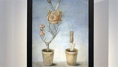 Medkův surrealistický obraz Květináče se vydražil za 8 milionů korun