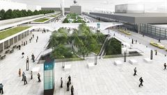 Budoucí podoba ruzyňského letiště. Zmizí parkoviště, přibyde podzemní podlaží