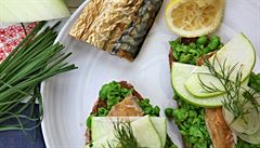 Obložené chleby sváteční a silvestrovský stůl. Nové trendy severské kuchyně