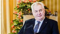 Zemanovo vánoční poselství: Migrační vlna je temnou skvrnou zahraniční politiky