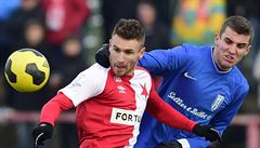 Slavia v generálce porazila osmifinalistu LM z Kyjeva, zranil se ale Škoda
