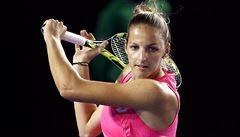 Kristýna Plíšková v Melbourne vyřadila favoritku, dál jdou i Berdych a Kvitová
