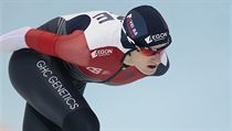 Martina Sablikova, of Czech Republic, competes to win the women's 5000 meter...