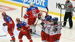 Sborná opět padla. Čeští hokejisté slaví triumf nad rivalem popáté v řadě