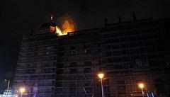 Noční požár v Národním muzeu způsobil škodu za deset milionů korun
