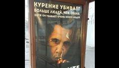 Svérázná ruská kampaň: Kouření zabíjí víc lidí než Obama - a to je co říct