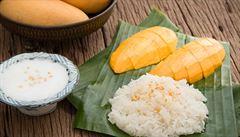 Lepkavá rýže s kokosovým mlékem. Objevte kouzlo thajských dezertů