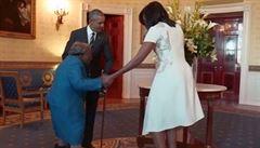 Bílý dům navštívila 106letá stařenka. S manželi Obamovými si i zatancovala