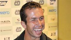 Gutntág. Štěpánek si před Davis Cupem v Německu zahrál na Bolka Polívku