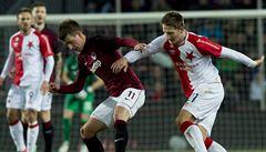 Můj gól nic nepřinesl, litoval Škoda. Slavia tlak Sparty neodrazila
