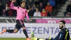 Zklamaný debutant Koubek: 'Dostal jsem gól a pak jen kopal dlouhé míče'