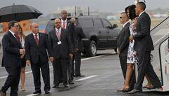 Obama na Kubě. Čeká ho jednání s Castrem, chce potkat i opozici