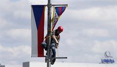 Policie dostala prý před návštěvou čínského prezidenta pokyn: tibetské vlajky viset nesmí