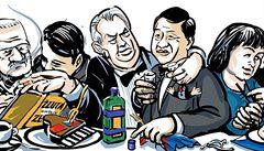Státní večeře pro sto padesát vyvolených. Zeman kouřil i nad biftekem