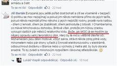 Moc se modlím za velký teroristický útok, napsal Konvičkův kolega na sociální síti