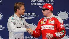 Kvalifikaci v Číně vyhrál Rosberg, Hamilton odstartuje poslední