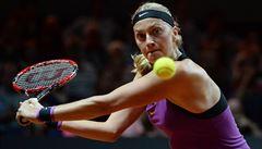 Tažení obrozené Kvitové antukou ve Stuttgartu stopla v semifinále Kerberová
