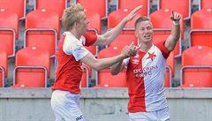 Slavia po čtyřech remízách v řadě konečně zabrala. Slovácko rozdrtila 5:1
