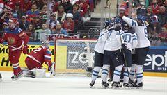 Finové jsou prvními finalisty šampionátu. Porážku Rusů dirigoval osmnáctiletý Aho
