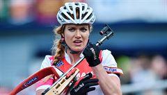První triumf s novým jménem. Koukalová ovládla MČR v biatlonu na horských kolech