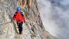 Rakouská horská služba zachraňovala Čecha. V džínách zabloudil na ferratu