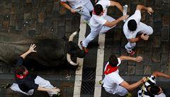 Ve Španělsku se při tradičním běhu s býky zranilo několik lidí, jeden zemřel