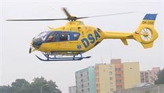Dva lidé se vážně zranili v Kolíně při seskoku, zasahovaly dva vrtulníky