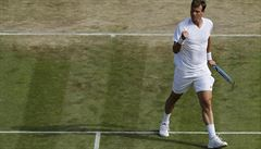 Hladká jízda. Berdych přehrál Pouilleho a zahraje si semifinále Wimbledonu