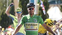 Sagan vyhrál letos na Tour třetí závod. Ve finiši předčil o galusku Kristoffa