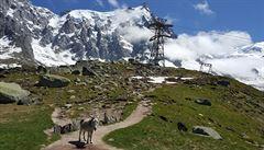 Savojské Alpy. Výhledy na ledovce a treky pod Mount Blancem
