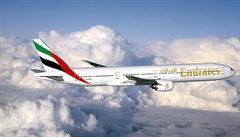 Společnost Emirates přidá novou linku z Prahy do Dubaje, plánuje ročně přepravit o čtvrt milionu více pasažérů
