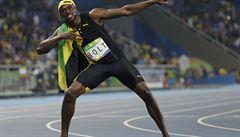 Komediant v cíli i na trati. Bolt se ďábelsky ušklíbl, jeho fotka obletěla internet