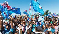 VIDEO Ragbisté Fidži se vrátili domů jako hrdinové: dostali vyznamenání a 718 tisíc na hlavu
