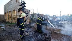 Požár kulis na Barrandově za 100 milionů nebyl dílem žháře, míní předběžně policie