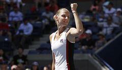 V souboji o první grandslamové semifinále dominovala Plíšková. Konjuhové nedala šanci