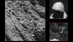 Sonda Rosetta našla ztraceného robota. Mapoval povrch komety