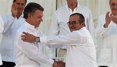 Kolumbijská vláda podepsala mírovou dohodu s povstalci