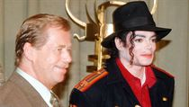 Václav Havel a Michael Jackson.